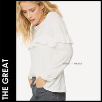 ★追跡&関税込【THE GREAT】The Ruffle Yoke Tee