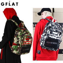 【GFLAT】CAMO STRAP BACKPACK★2色