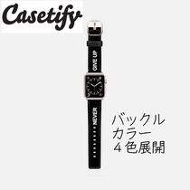 Casetify(ケースティファイ) 腕時計用ベルト・バンド 【ケースティファイ】アップルウォッチ☆バンド☆NEVER GIVE UP