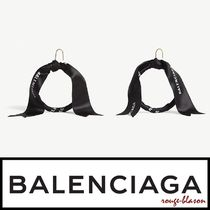 【国内発送】Balenciaga ピアス Tape logo hoop earrings