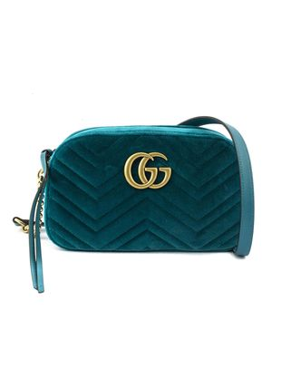 GUCCI ショルダーバッグ・ポシェット 【VIP SALE!!】GUCCI☆GG Marmont ロゴ付き クロスボディバッグ(7)