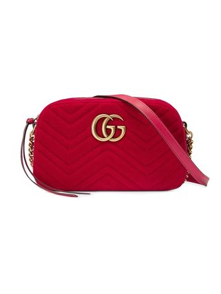 GUCCI ショルダーバッグ・ポシェット 【VIP SALE!!】GUCCI☆GG Marmont ロゴ付き クロスボディバッグ(9)