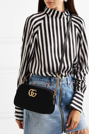 GUCCI ショルダーバッグ・ポシェット 【VIP SALE!!】GUCCI☆GG Marmont ロゴ付き クロスボディバッグ(17)