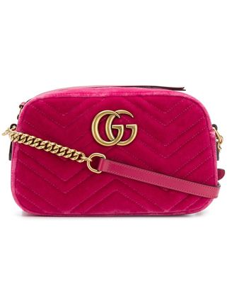 GUCCI ショルダーバッグ・ポシェット 【VIP SALE!!】GUCCI☆GG Marmont ロゴ付き クロスボディバッグ(11)