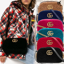 【VIP SALE!!】GUCCI☆GG Marmont ロゴ付き クロスボディバッグ