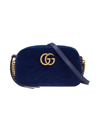 GUCCI ショルダーバッグ・ポシェット 【VIP SALE!!】GUCCI☆GG Marmont ロゴ付き クロスボディバッグ(3)