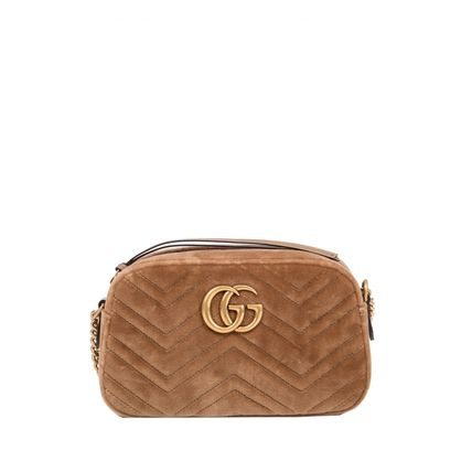 GUCCI ショルダーバッグ・ポシェット 【VIP SALE!!】GUCCI☆GG Marmont ロゴ付き クロスボディバッグ(5)