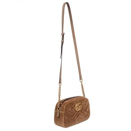 GUCCI ショルダーバッグ・ポシェット 【VIP SALE!!】GUCCI☆GG Marmont ロゴ付き クロスボディバッグ(6)