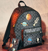 ☆COACH☆WEST BACKPACK SIGNATURE PVC WITH SPACE PATCHES