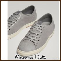 MassimoDutti♪GREY NUBUCK LEATHER SNEAKERS