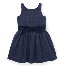 新作♪ 国内発送 Plaid Fit-and-Flare Dress girls 2~6X