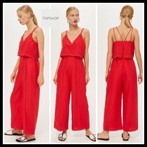 TOPSHOP☆Embroidered Strappy Jumpsuit ジャンプスーツ レース
