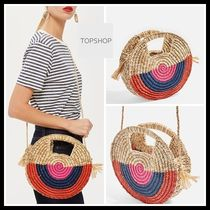 TOPSHOP☆Straw Tote Bag 麦わらバッグ ストローバッグ
