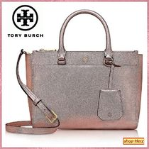 ★Tory Burch★ Rose Gold Sサイズ 2wayメタリックトートバッグ