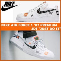 "注目★ナイキ NIKE AIR FORCE 1 '07 PREMIUM JDI ""JUST DO IT"""