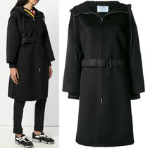 PR1206 CASHMERE BLEND WOOL HOODED COAT