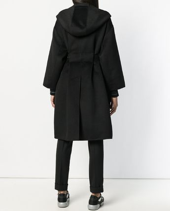 PRADA コート PR1206 CASHMERE BLEND WOOL HOODED COAT(3)