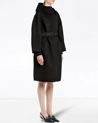 PRADA コート PR1206 CASHMERE BLEND WOOL HOODED COAT(2)