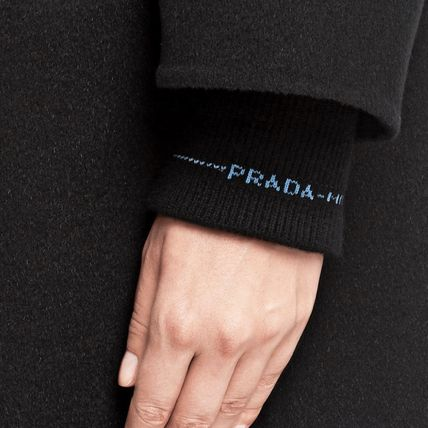 PRADA コート PR1206 CASHMERE BLEND WOOL HOODED COAT(4)