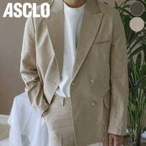 ★ASCLO★ LINEN DOUBLE SUIT