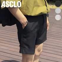 ★ASCLO★ PERFECT TURN UP SHORT SLACKS