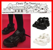 OPEN THE DOOR(オープンザドア) サンダル・ミュール 18SS☆人気【OPEN THE DOOR】☆Platform Buckle Strap Sandals☆