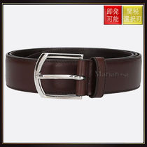 【チャーチ】Brushed Calf Belt Dark Brown