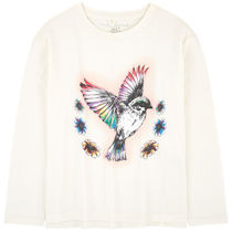 大人OK★Stella McCartney★2018AW★BIO長袖Tシャツ★鳥★14/16Y