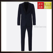【プラダ】Lightweight Wool Tuxedo Suit Blue And Black