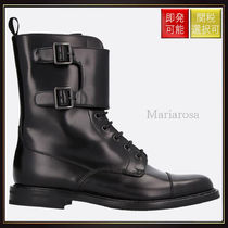 【チャーチ】Stefy Combat Boots In Brushed Calf Black