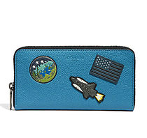 ☆COACH☆ACCORDION WALLET WITH SPACE PATCHES