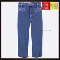 【ロエベ】Fisherman Jeans With Contrasting Turn Up Hem Blue
