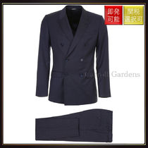 【ドルチェ&ガッバーナ】Double Breasted Suit Melange Azzurri