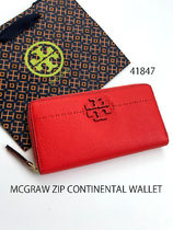 TORY BURCH☆McGRAW ZIP CONTINENTAL WALLET