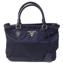 プラダ ハンドバッグ 1BA172 TESSUTO SOFT CALF BLEU(bag-6217)