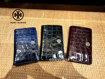新作 TORY BURCH★PARKER EMBOSSED SLIM WALLET 折り財布