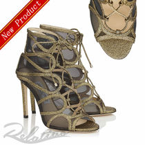 ☆18AW☆【Jimmy Choo】MALENA 100 Crackled&Raffia サンダル