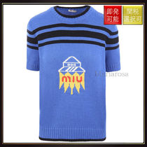 【ミュウミュウ】Knitted Pullover With Ufo Intarsia OneColor