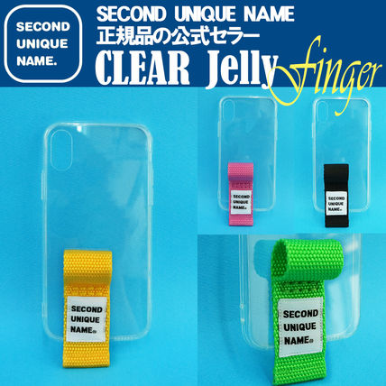 SECOND UNIQUE NAME iPhone・スマホケース 【NEW】「SECOND UNIQUE NAME」 CLEAR JELLY Finger 正規品