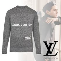 Louis Vuitton 2018-19AW PULL COL ROND IMPRIME LV LIST ニット