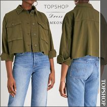 【国内発送・関税込】TOPSHOP★Sonny cropped cotton jacket