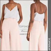 【国内発送・関税込】TOPSHOP★Scalloped-edge woven cami top