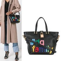 【Dolce & Gabbana】#DG Family Patch Dolce Tote 2WAY 黒
