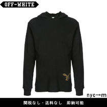 即納国内発送 Off-White embroidered hooded sweatshirt