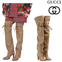 GUCCI グッチ Original GG canvas over-the-knee boot ブーツ