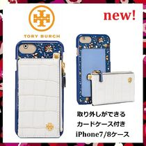 セール 新作 Tory Burch Hardshell Pocket Back Case iPhone7/8