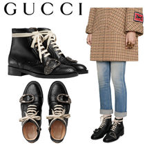 GUCCI グッチ Queercore brogue boot ブーツ black 496617