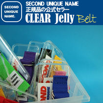 【NEW】「SECOND UNIQUE NAME」 CLEAR JELLY Belt 正規品
