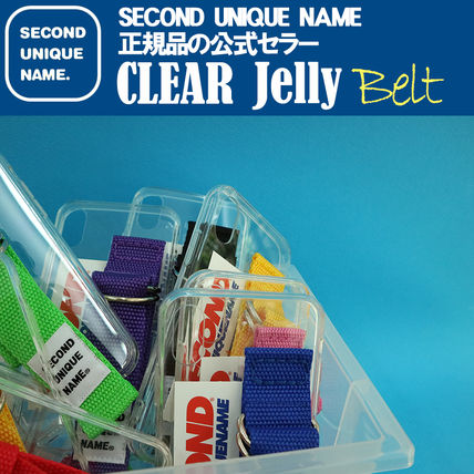 SECOND UNIQUE NAME iPhone・スマホケース 【NEW】「SECOND UNIQUE NAME」 CLEAR JELLY Belt 正規品