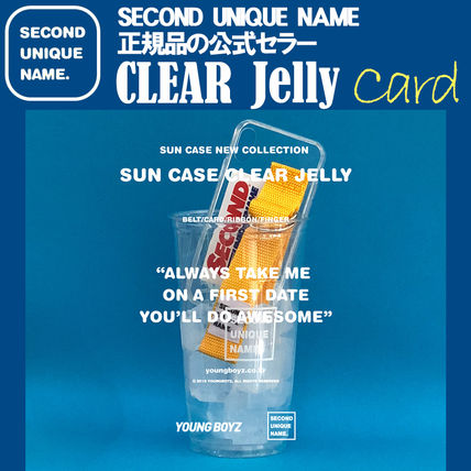 SECOND UNIQUE NAME iPhone・スマホケース 【NEW】「SECOND UNIQUE NAME」 CLEAR JELLY Card 正規品
